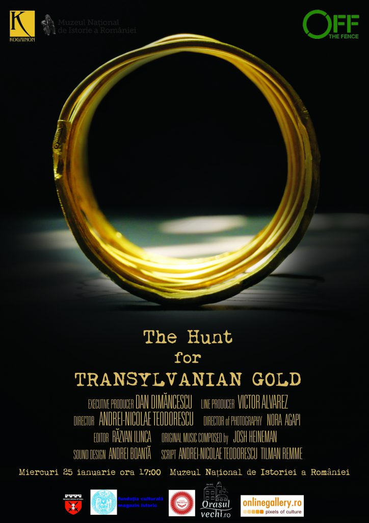 Afis_Premiera The Hunt for Transylvanian Gold_MNIR_25.01.2017