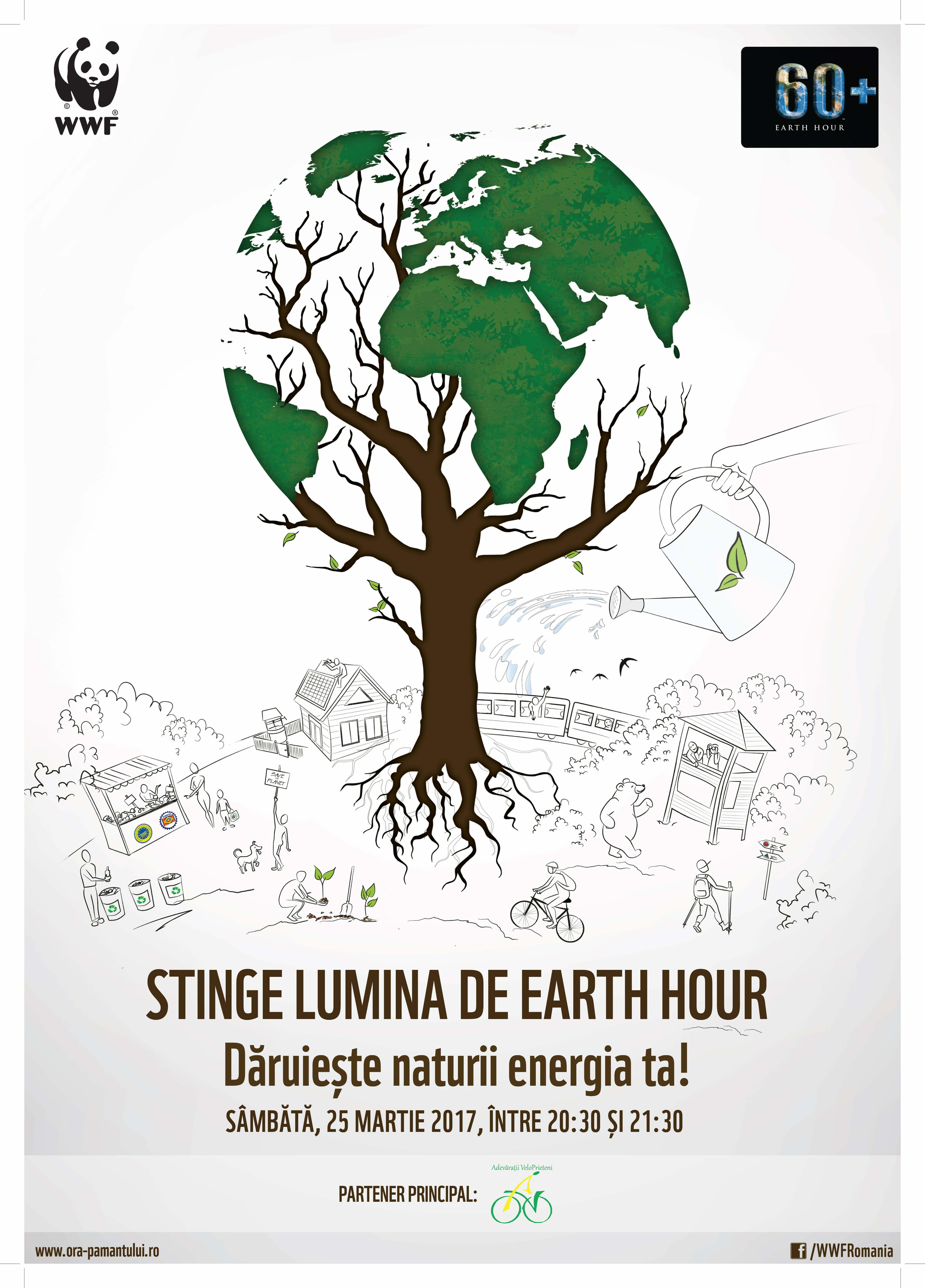 """MNIR susține campania """"Ora Pământului"""""""