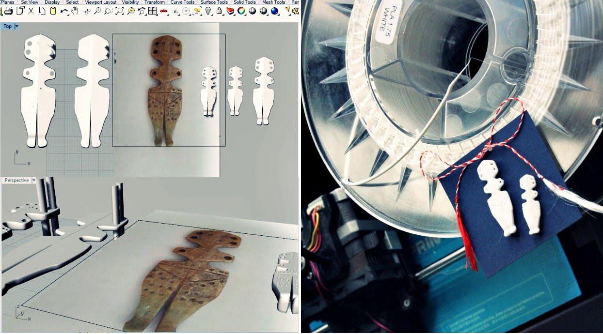 Mărțișoare 3D la MNIR