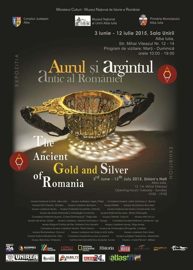 """Deschiderea expoziției-eveniment """"Aurul și argintul antic al României"""" la Muzeul Național al Unirii Alba Iulia"""