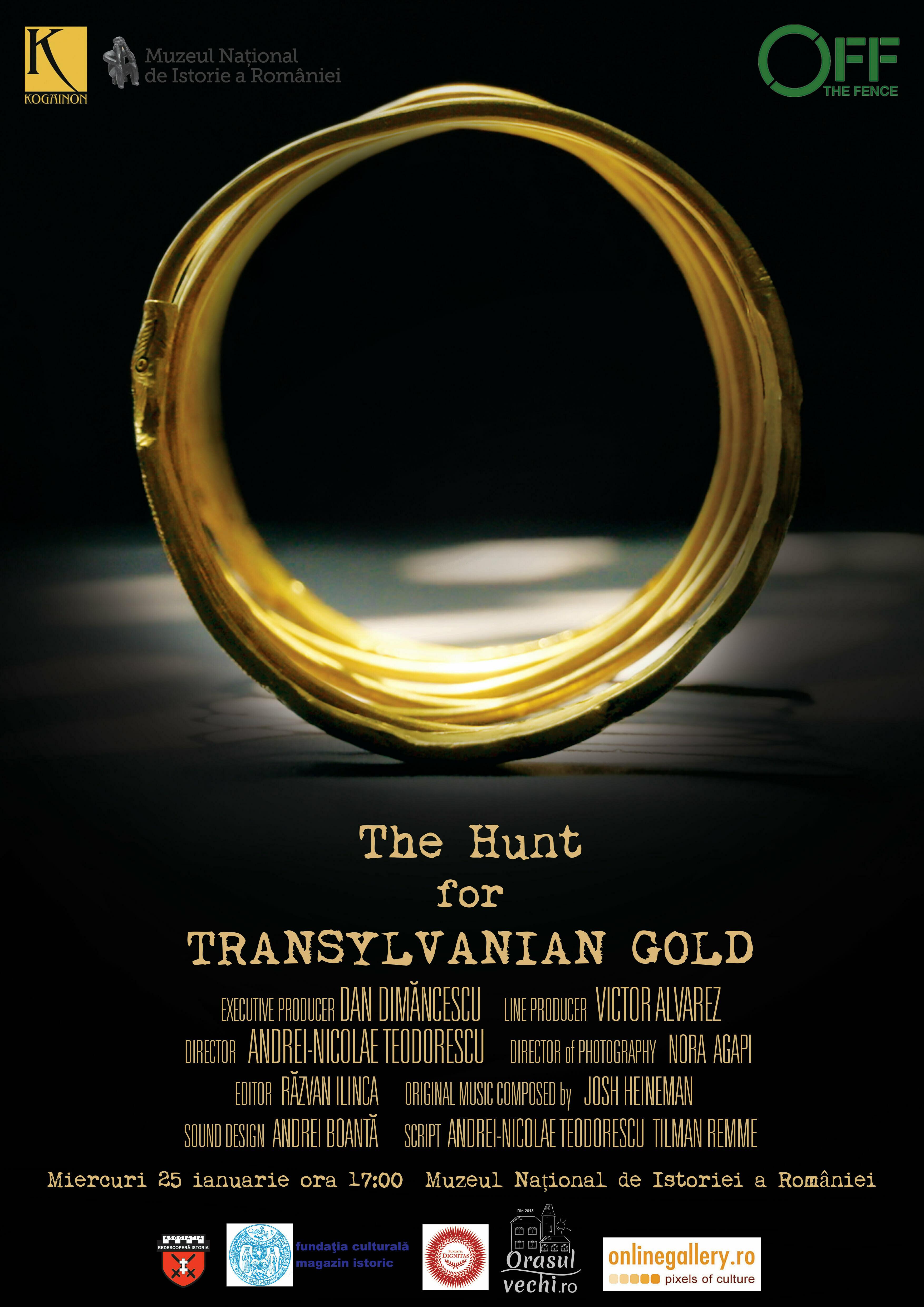 """Premiera filmului documentar """"The Hunt for Transylvanian Gold"""""""